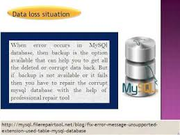 Mysql Repair Table by How To Fix Error Message U201cunsupported Extension Used For Table U201d In