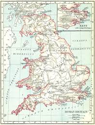 Map Of Britian Heritage History Products