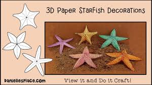 starfish decorations starfish paper craft decorations view it and do it craft
