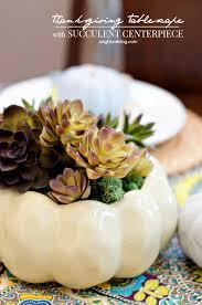 thanksgiving tablescape with succulent centerpiece succulent