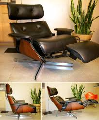 chair with built in ottoman eames chair recliner contemporary plycraft style with built in