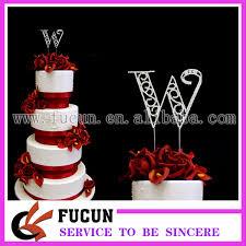 w cake topper aliexpress buy free shipping 10pcs lot 12cm bling rhinestone
