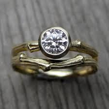 engagement jewelry sets diamond twig engagement ring wedding band 50ct si1 f
