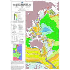 Ocean Map World by Structural Map Of The Western Pacific Ocean Ccgm Cgmw