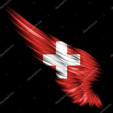 Stock Feather Flags Abstract Wing With Switzerland Flag On Black Background U2014 Stock