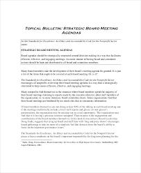 board meeting agenda template u2013 10 free word pdf documents