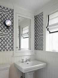 Beadboard Wallpaper On Ceiling by Blue Beadboard Powder Room Ceiling Design Ideas
