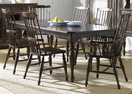 Windsor Dining Room Chairs River Street Rectangular Leg Table 7 Piece Dining Set With Windsor