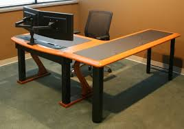 computer desk for dual monitors dual monitor arm caretta workspace pertaining to new home computer