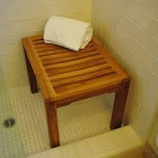bathroom black shower bench style small teak shower stool