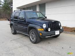 jeep renegade blue interior 2006 midnight blue pearl jeep liberty renegade 4x4 7023513
