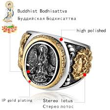 male rings vintage images Zabra vintage buddhism goddess 925 silver dragon male ring gold jpg