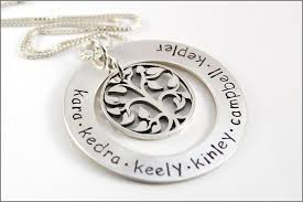 personalized family tree necklace personalized family tree necklace sterling silver tree of