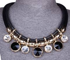 gold plated statement necklace images Gold plated geometric round pendants chunky statement necklace JPG