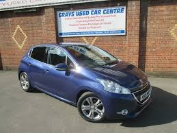 peugeot blue used peugeot 208 blue for sale motors co uk