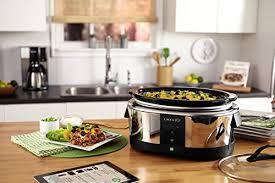 wifi cooker crock pot smart wifi enabled wemo 6 quart slow cooker sccpwm600 v1