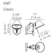 Classical Wall Mounted Bedroom Reading Lights Artemide Tolomeo Wall Spot Light Classic Stardust