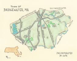 Massachusetts Map Cities And Towns by River U0027s Edge Maps