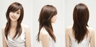 kawaii hairstyles no bangs long layered v cut with side bangs hair skin nails etc