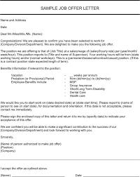 doc 575709 sample employment offer letters u2013 job offer letter