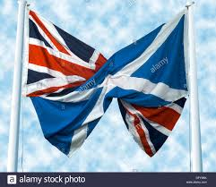 uk union jack flag and scottish saltire st andrew u0027s cross flag in