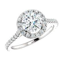 engagement ring deals 18k white gold 1 00 carat halo engagement rings