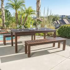 Best Wood For Patio Furniture - amazon com marin dark brown acacia wood outdoor picnic set