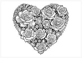 printable 25 cool heart coloring pages 7812 flowers coloring