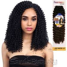 crochet braids with human hair freetress synthetic hair crochet braids jazz water 12 samsbeauty