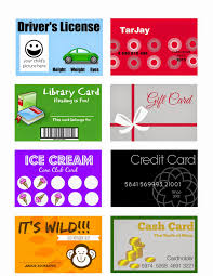 gift cards for kids crafts printable pretend play cards for kids ids