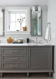 Gray Bathroom - grey bathroom vanity transitional bathroom luxe living interiors