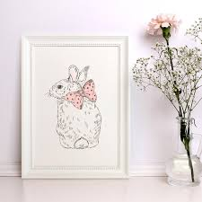 Decor Baby by Baby Nursery Decor Baby Animal Print Rabbit Print Nice Rabbit