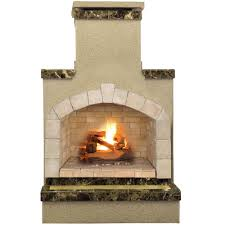 Outdoor Chimney Fireplace by Necessories Desert Compact Outdoor Fireplace 4200039 The Home Depot