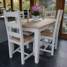 shaker style dining table fonthill table with ladder back chairs hand painted by rectory blue