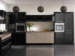 cuisine noir laqué cuisine 28 idées de design contemporain formidable