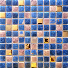 porcelain square mosaic tiles design snowflake style kitchen