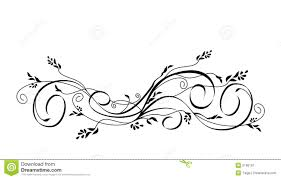 vector floral scroll ornament royalty free stock photography