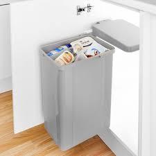kitchen cabinet waste bins slimline waste bins kitchen bin 790414 42 stainless steel slim line