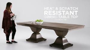 scratch resistant dining table heat and scratch resistant dining tables by inspire q youtube