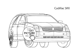 car cadillac srx coloring page cool car printable free