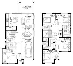 Floor Plan Two Storey by New Home Builders Claremont 23 Double Storey Home Designs