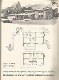 vintage house plans mid century homes floor plans pinterest
