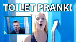 public toilet prank how to do bathroom pranks youtube