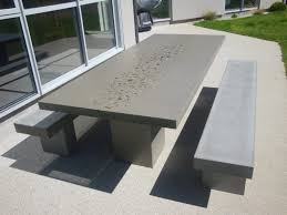 Concrete Patio Table Size Of Cement Patio Table And Benches Concrete Garden Table
