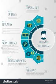 Resume Vector Flat Resume Infographics Design Cv Set Stock Vector 519518005