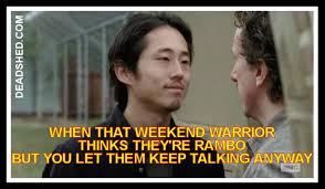 Glenn Walking Dead Meme - deadshed productions crazy rick edition the walking dead 5x15