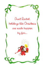 for a loved aunt greeting card christmas printable card