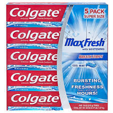 colgate maxfresh toothpaste cool mint 7 6 oz 5 pk sam s club