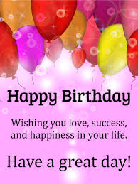 wishing you happiness shining happy birthday card birthday