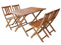 chaises pliantes conforama ensemble table rectangulaire 4 chaises pliantes en acacia massif